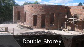 Double Storey Construction Process Images